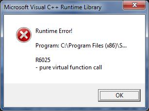 "How To Fix ""Runtime Error R6025"" – Visual C ++ Runtime Error Fix"