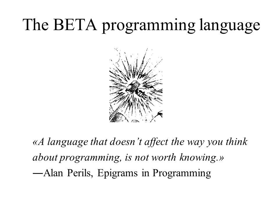 Beta - A Programming Language