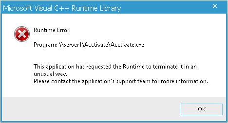 Microsoft Visual C ++ Runtime Error Fix