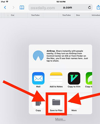 Simple Process to Save Zip Files to iPhone or iPad