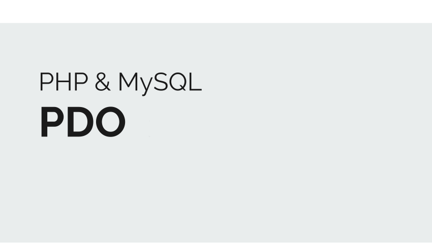 PHP PDO MySQL - Simple Example Connecting to MySQL With PDO Class