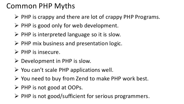 Common Myths About PHP Programming