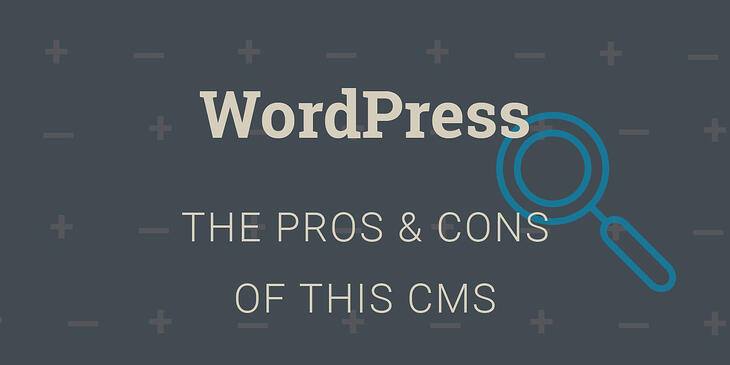 Should You Use WordPress As Your CMS - Pros & Cons